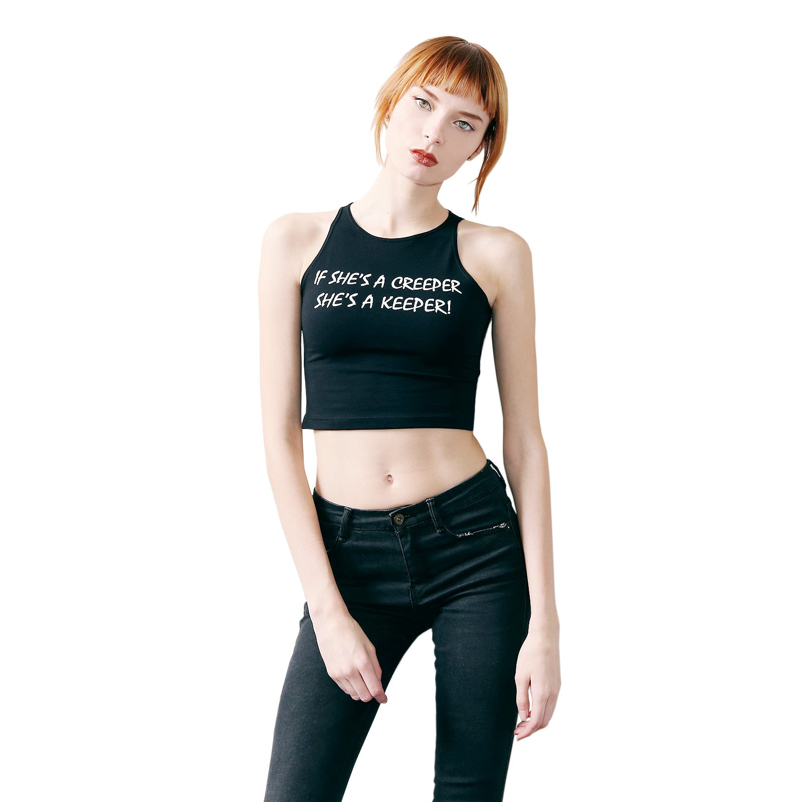 CREEPER KEEPER SLEEVELESS CROP TOP