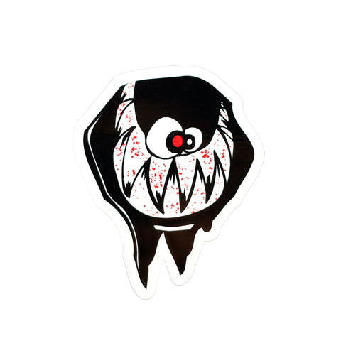 SPLIT SKULL STICKER