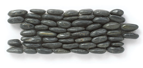 Starry Night Black Standing Pebble Tile