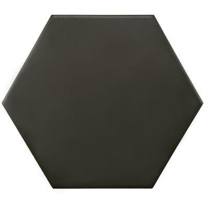 SD Royal Black Hexagon Matte Tile 5x4 (shipping charges apply)