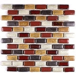 Elysium Roman Autumn Stack Porcelain Mosaic 11.75x11.75 (please call us for pricing)