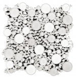Elysium Milano White Circular Bianco Lady Glass Mosaic 11.75x11.75 (please call us for pricing)