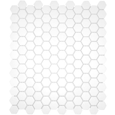 Tile 1X1 Hexagon White Matte Mosaic