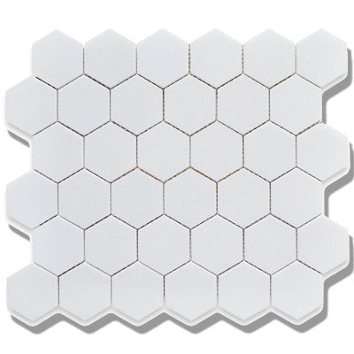 Tile 2X2 Hexagon White Matte Mosaic