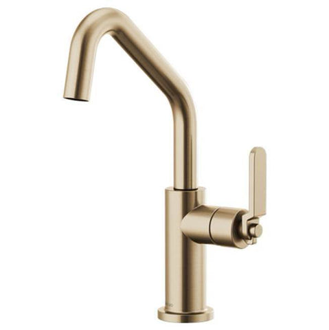 Brizo Bar Faucet with Angled Spout and Industrial Handle