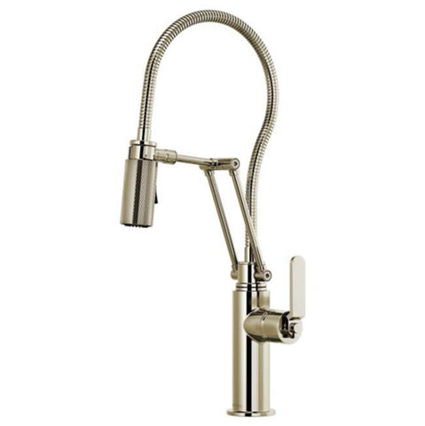 Brizo Articulating Faucet with Finished Hose Polished Nickel