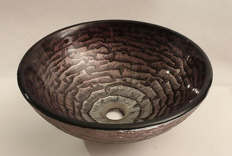 La Bufadora Hand Made Tempered Glass Vessel Sink