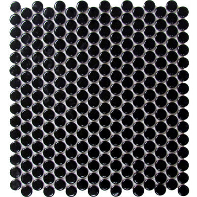Tile Black Penny Round Mosaic