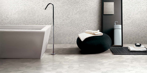 Happy Floors Bardiglio Polished Rectified Porcelain Tile Made in Italy