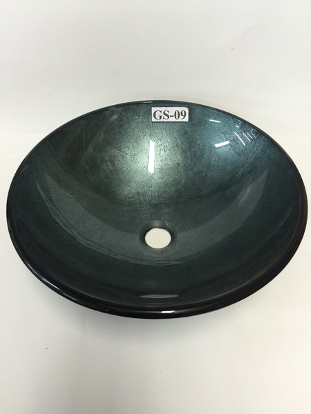 Pisa Hand Made Tempered Glass Vessel Sink (FREE SHIPPING!)