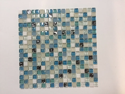 Livorno Blue Glass & Stone Mosaic (FREE SHIPPING)