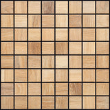 "Grey Oak Natural Wood Mosaics 13""x13"" Sheet (May qualify for free shipping)"