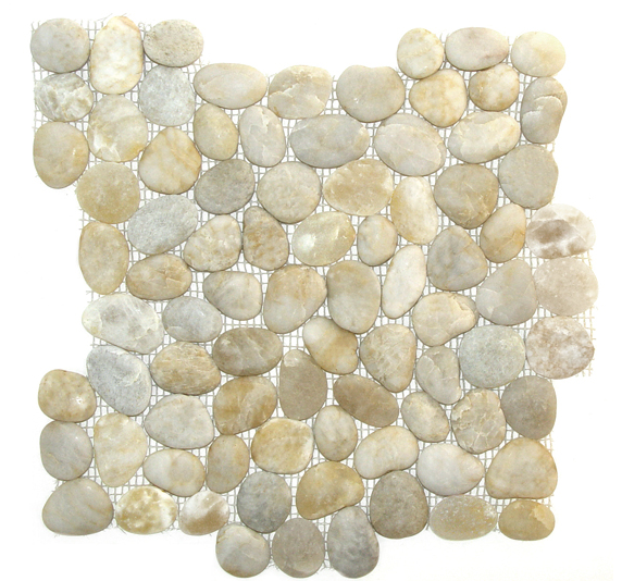 Florence Sand Tumbled Pebble Mosaic Tile