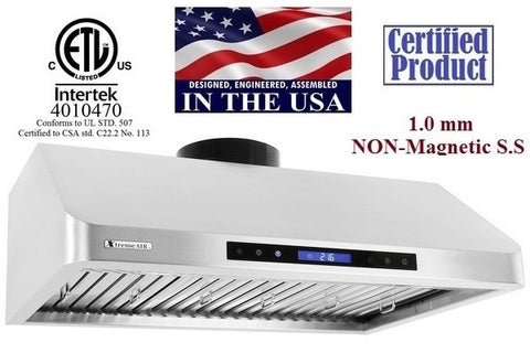 Xtreme Air Undermount Pro-X Series PC10-U30/36/42/48 Range Hood