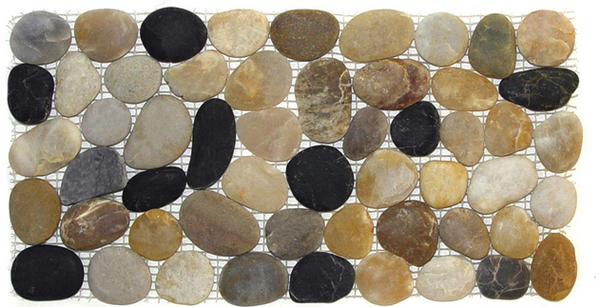 Rome Coloful Tumbled Pebble Mosaic Tile