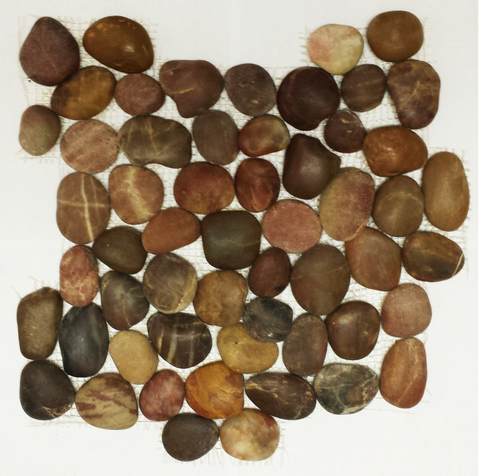 Earth Red Polished Pebble Tile