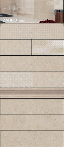Zafiro Helena Decor Crema Marfil Look Porcelain Wall Tile 3x12