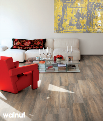 Cerdomus Kora Walnut Porcelain Wood Look Tile  (Made In Italy)Call us for special pricing!