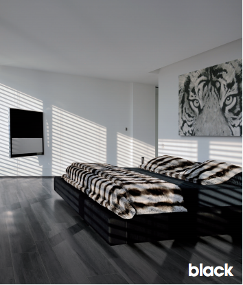 Cerdomus Kora Black Porcelain Wood Look Tile  (Made In Italy) Call us for special pricing!