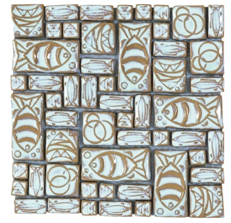 Elysium Roman White Tuna Glass Mosaics (please call us for pricing)