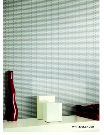 Elysium Hulu White Slender Porcelain Mosaics (please call us for pricing)