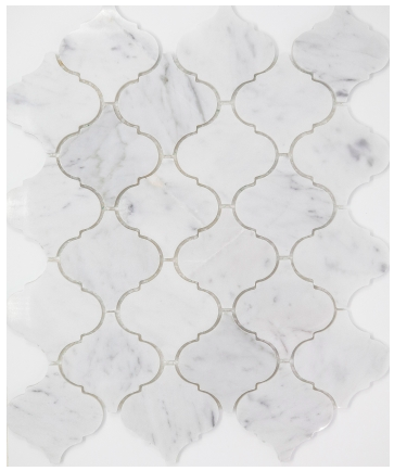 Elysium Precious Stone Carrara Arabesque 10.5x12.5  (call us for pricing)