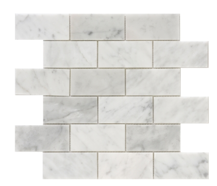 Elysium Precious Stone Carrara Brick 2x4 on 12x12  (call us for pricing)