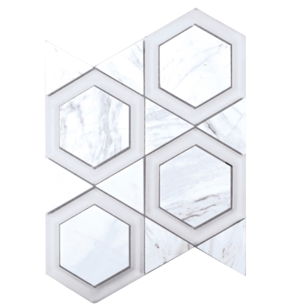 Elysium Cartier Carrara Hexagons 10x11.75  (call us for pricing)