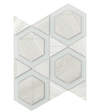 Elysium Cartier Sea Salt Hexagons 10x11.75  (call us for pricing)