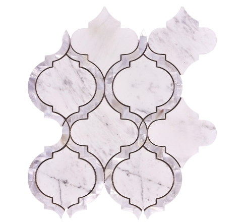 Elysium Alice Pearl Carrara Mosaics 9.75x11.75 (call us for pricing)
