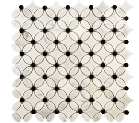 Elysium Carrara Rose 13.25x13.25 Mosaic (please call us for pricing)