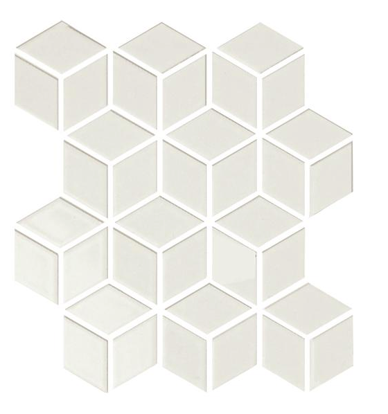 Sognare Cute Bone Rhombus Hexagon Cube Bone Glossy Mosaic 12x12