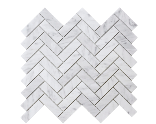 Elysium Chevron Long Carrara Mosaic 11x12.5 (please call us for pricing)