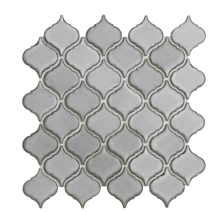 Elysium Cinderella Grey Small Porcelain Tile Mosaic 10.25x10.25 (call us for pricing) Pool Rated