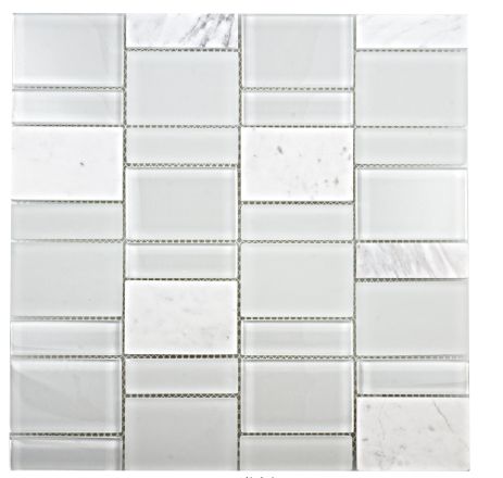 Elysium Tiles Vic Prime Marble & Glass Mosaics 11.25x13.75 (please call us for special pricing)