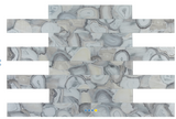Elysium Aura Shell Grey 4x24 Glass Tile