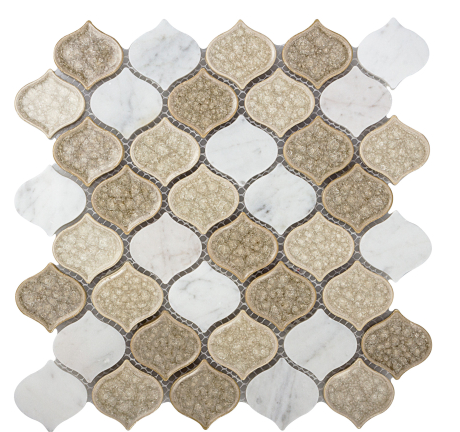 Elysium Van Gogh Ash Grey Glass and Marble Mosaics 11x11 (call us for special pricing)