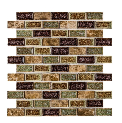 Elysium Swiss Emperador Brick 11.75x11.75 (call us for special pricing)