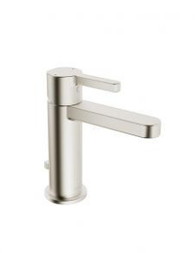 IN2AQUA EDGE ONE-HOLE SINGLE-LEVER BASIN MIXER, BRUSHED NICKEL (please call us for special pricing)