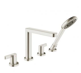 in2aqua Edge 4-hole roman tub trim kit, brushed nickel rough-in valve required (please call us for special pricing)