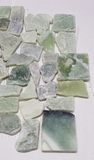 Jade Stone Sea Grass Green Pebble Mosaic Tile