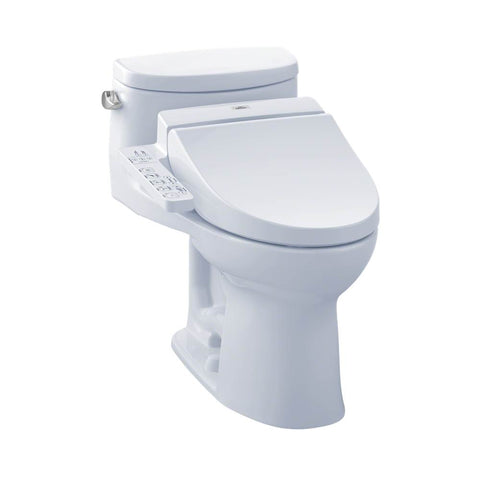 TOTO - MW6342034CEFG#01 - TOTO Connect+ Kit Supreme II One-Piece Elongated 1.28 GPF Toilet and Washlet C100 Bidet Seat, Cotton White - MW6342034CEFG#01 (CALL US FOR SPECIAL PRICING)
