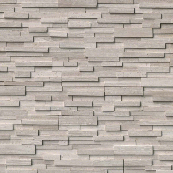 White Oak 3D Honed Ledger/Stacked Stone Panels