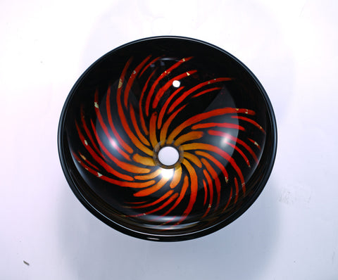 Galaxy Handmade Tempered Glass Vessel Sink
