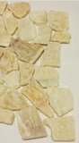 Jade Stone Yellow Jelly Pebble Mosaic Tile