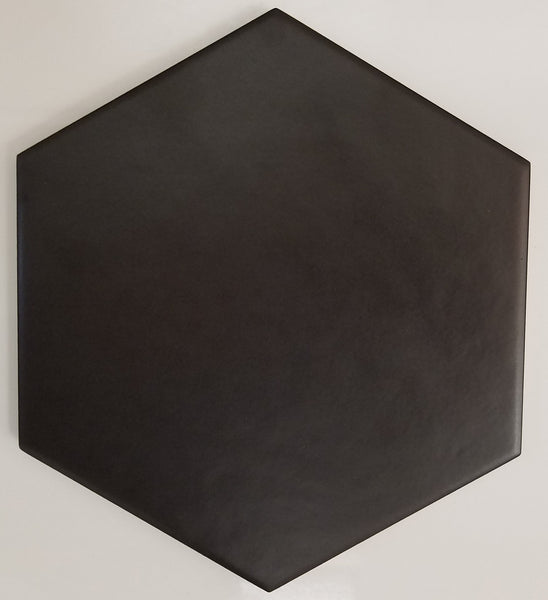 "Royal Black Classic Hexagon Matte 7""x8"" (shipping charge apply)"