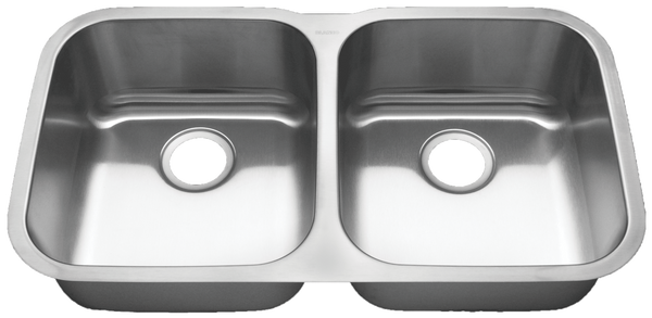 "Blanco Stainless Steel Double (50/50) Bowl Sink (33-1/3"")"