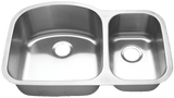 "Blanco Stainless Steel Double (70/30) Bowl Sink (31-3/4"")"