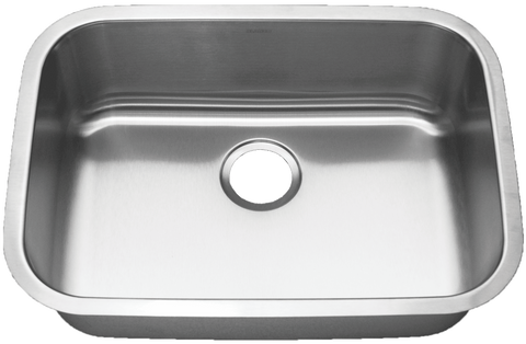 "Stainless Steel Medium Single Bowl Sink (25"")"