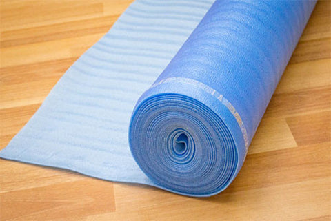 Blue Foam Laminate Underlayment 2 MM Rolls (shipping charges apply)